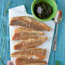 Tub gurnard fillets with herb dressing