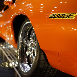 the judge I by John Knowles-smith - Transportation Automobiles ( orange, muscle car, american, hot rod, bokeh )