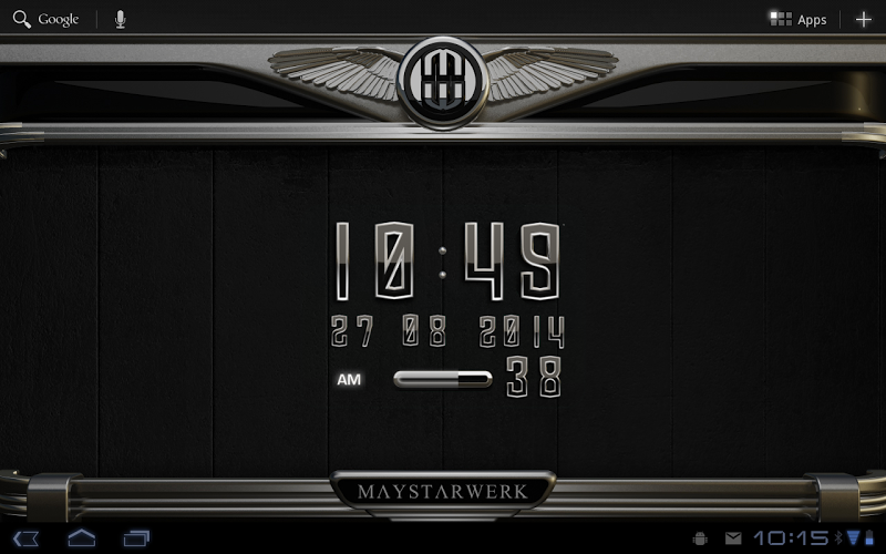 Digi Clock Widget Atlantis Screenshot 3