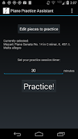 Screenshot of Piano Practice Assistant