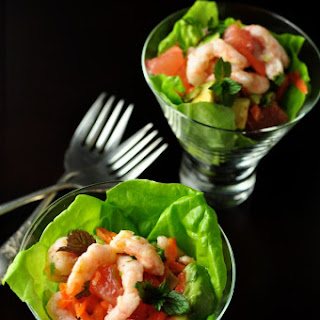 Shrimp Salad with Grapefruit and Mint