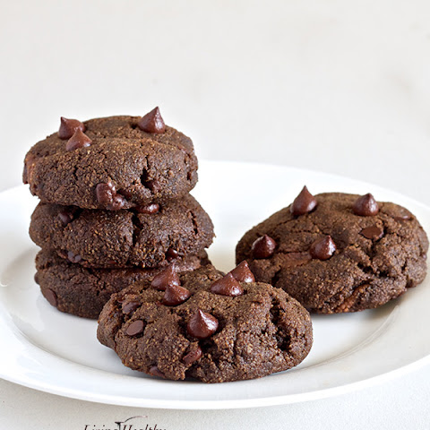 'Nutella' Filled Double Chocolate Chip Cookies (Paleo, Gluten, Grain, Dairy & Refined Sugar free)