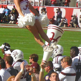 Alabama Coed Cheerleading by Brianne Cronenwett - Sports & Fitness Other Sports ( cheerleading, coed, crimson tide, alabama, gameday )