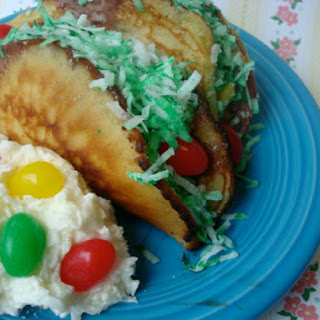 Easter Candy Dessert Taco Plate