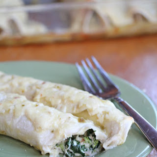 Spinach Chicken Enchiladas Cream Sauce Recipes