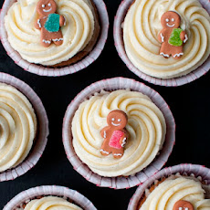 Gingerbread Cupcakes with Orange Glaze and Mascarpone Buttercream