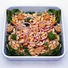 White Bean and Tuna Fish Salad with Lemon Pepper Dressing