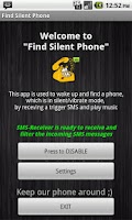 Screenshot of Find My Fone via SMS
