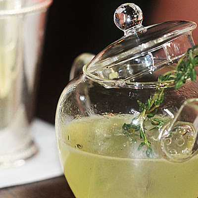 The Famous Thyme Out Cocktail By Giovanni Spezziga of Scarfes Bar London