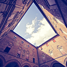 by Gregor Znidarsic - Buildings & Architecture Homes ( center, old house, houses, sky, window, bologna, square, garden, shadows )