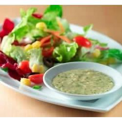 Green Salad with Posole and Creamy Cilantro-Lime Vinaigrette
