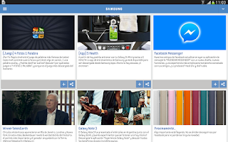 Screenshot of Samsung News Argentina