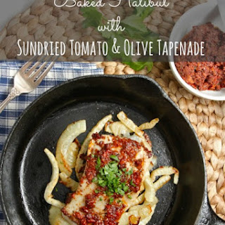 Baked Halibut with Sundried Tomato & Olive Tapenade