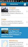 Screenshot of Mauritius Guide Hotels & Map