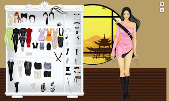 Screenshot of Ninja Girl DressUp