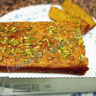 Moist Eggless Butterless Carrot Cake