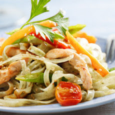 Chicken And Vegetable Stir-fry With Noodles