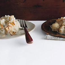 Cauliflower Risotto with Brie and Almonds