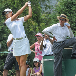 Leadbetter watching the swing by Lawrence Kelly - Sports & Fitness Golf ( lpga, golf, 2010 lpga us open, 2010, golfers, us open, lady golfers, oakmont,  )