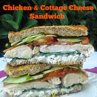 Chicken and Cottage Cheese Sandwich