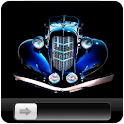 Royal Blue Car HD GO Locker icon