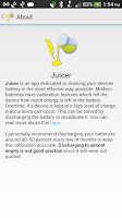 Screenshot of Juicer (battery drainer)