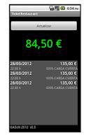 Screenshot of Ticket Restaurant Saldo