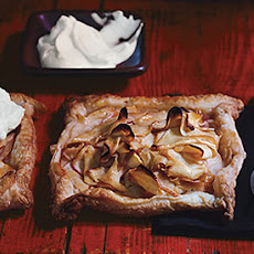 Rustic Apple Tarts with Calvados Whipped Cream