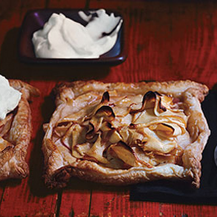 Rustic Apple Tarts with Calvados Whipped Cream Recipe | Yummly