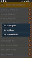 Screenshot of Samsung Galaxy Note 3 Ringtone
