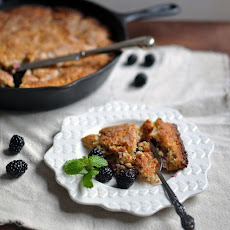 Blackberry Almond Skillet Cake