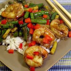 Shrimp With Green Beans in Thai Chili Sauce