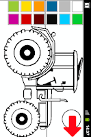 Screenshot of Coloring book Tractor Series