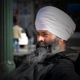 by Antonio Amen - People Portraits of Men ( turban, man )