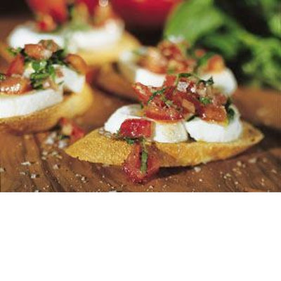 Fresh Mozzarella and Tomato Crostini