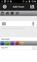 Screenshot of Sh!tlist