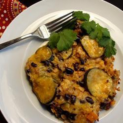 Chicken, Black Bean and Rice Casserole