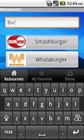 Screenshot of Fast Food Calorie Watchers LIT