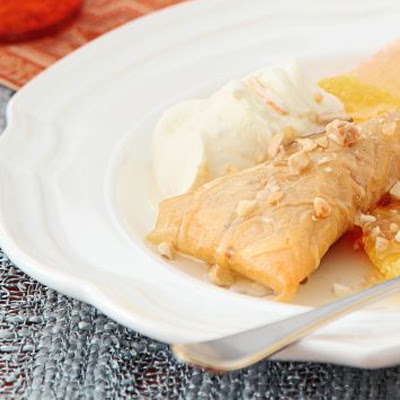 Almond & Honey Pastries With Orange Cream