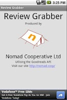 Screenshot of Review Grabber
