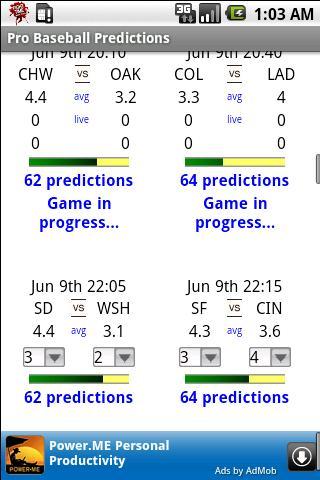 Pro Baseball Predictions