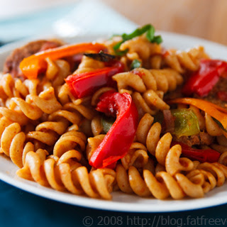 Pasta with Peppers and Sausage