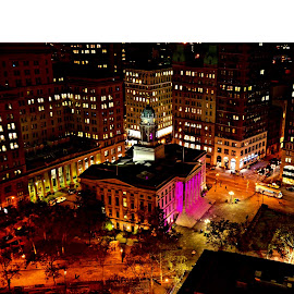 Ny municipal  by Scott Galle - Buildings & Architecture Office Buildings & Hotels ( the mood factory, mood, lighting, sassy, pink, colored, colorful, scenic, artificial, lights, scents, senses, hot pink, confident, fun, mood factory  )