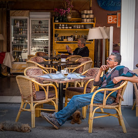 The Thinker by Jay Gould - People Street & Candids ( canary islands, color, maspalomas, gran canaria, people, street photography )
