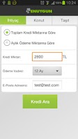 Screenshot of Kredi Hesaplama by Enuygun.com