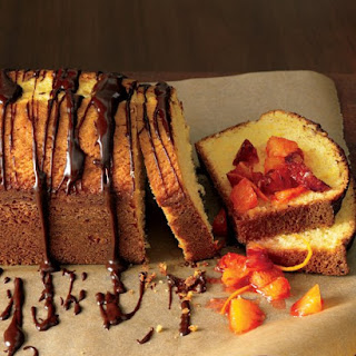 Orange-Scented Olive-Oil Cake with Orange Compote and Ganache