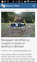 Screenshot of Beaufort Gazette - mobile news