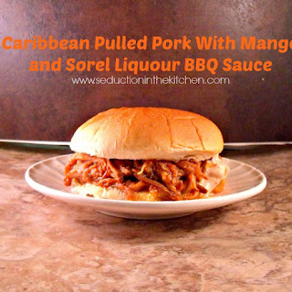 Caribbean Pulled Pork with Mango and Sorel Liquor BBQ Sauce