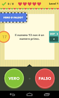 Screenshot of Vero o falso - il gioco
