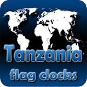 Tanzania flag clocks icon